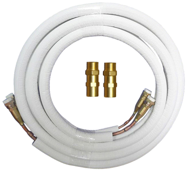 "Quick Connect Coupling copper incl. refrigerant tubes and tools for Air Conditioners - 1/4"" - 1/2"""