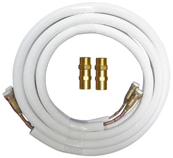 "Quick Connect Coupling copper incl. refrigerant tubes for all Air Conditioners - 1/4"" - 3/8"""